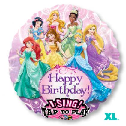 "P75 28"" Princess Birthday Jumbo Sing-A-Tune® XL® Foil Balloon"