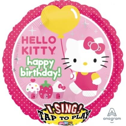 """P75 28"""" Hello Kitty Birthday Jumbo Sing-A-Tune® XL® Foil Balloon"""