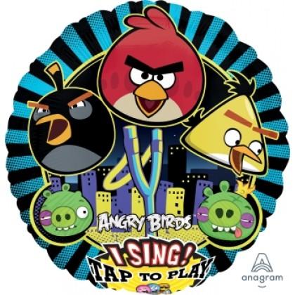 "P75 28"" Angry Birds Jumbo Sing-A-Tune® XL® Foil Balloon"