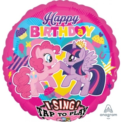 "P75 28"" My Little Pony Happy Birthday Jumbo Sing-A-Tune® XL® Foil Balloon"
