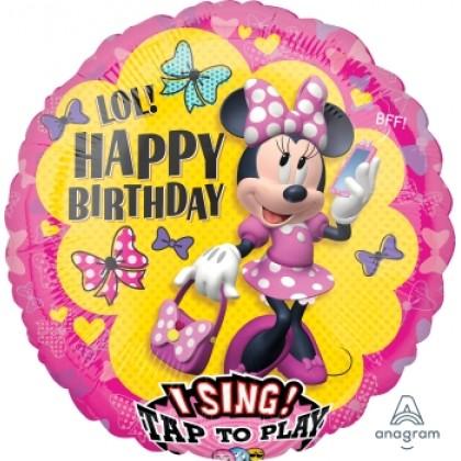 "P75 28"" Minne Happy Helpers Jumbo Sing-A-Tune® XL® Foil Balloon"