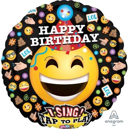"P60 28"" LOL Emoticons Happy Birthday Jumbo Sing-A-Tune® XL® Foil Balloon"