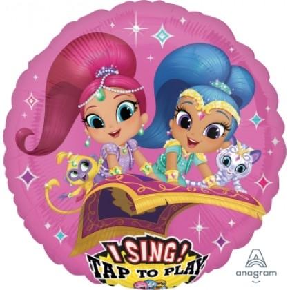 """P75 28"""" Shimmer & Shine Jumbo Sing-A-Tune® XL® Foil Balloon"""