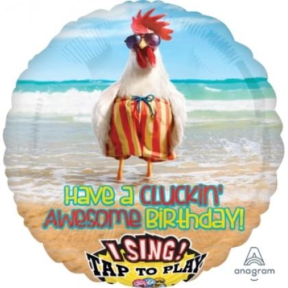 "P75 28"" Avanti Chicken Dance Jumbo Sing-A-Tune® XL® Foil Balloon"