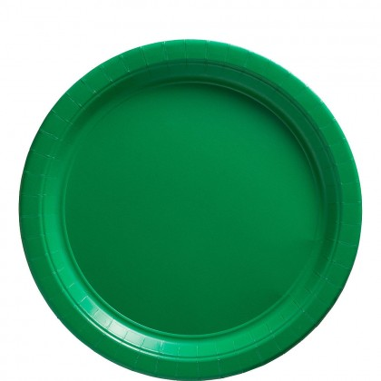 Paper Plates 9 in Festive Green