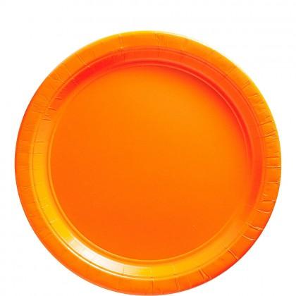 Paper Plates 9 in Orange Peel