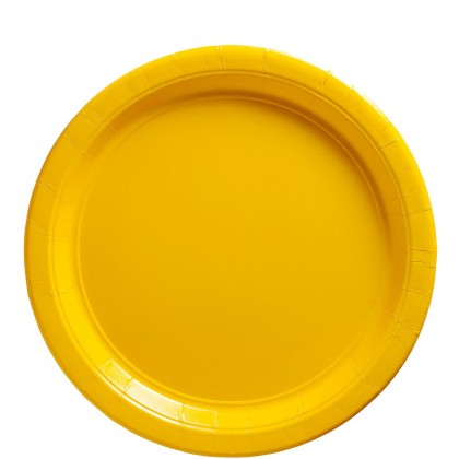 Paper Plates 9 in Yellow Sunshine
