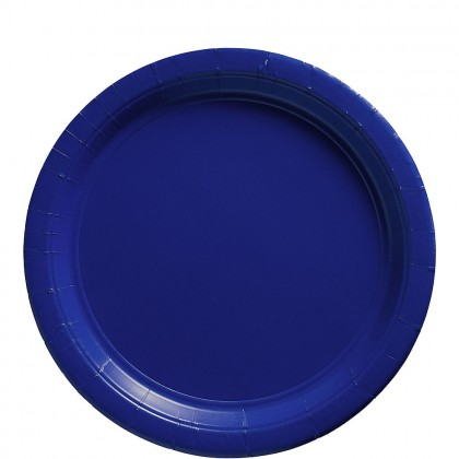 Paper Plates 9 in Bright Royal Blue