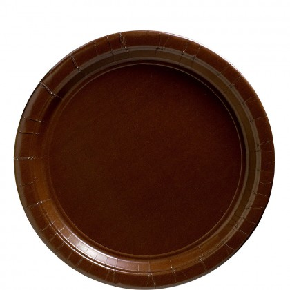 Paper Plates 9 in Chocolate Brown