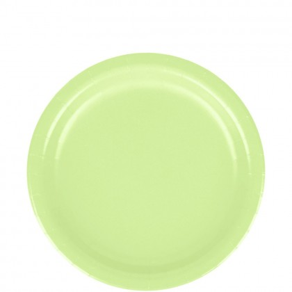 Paper Plates 9 in Leaf Green