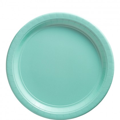 Paper Plates 9 in Robins Egg Blue