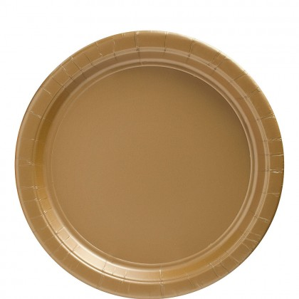 Paper Plates 9 in Gold