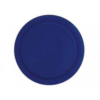Round Paper Plates 9 in True Navy