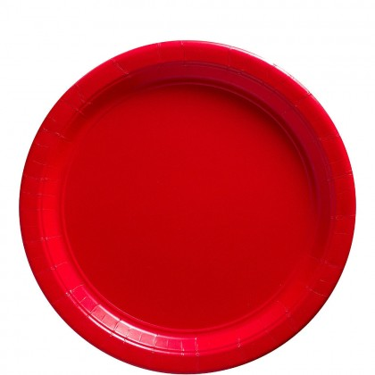 Paper Plates 9 in Apple Red