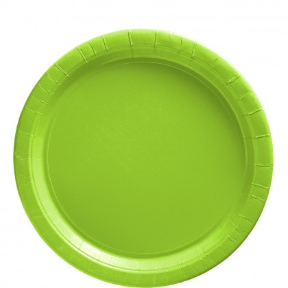 Paper Plates 9 in Kiwi Green