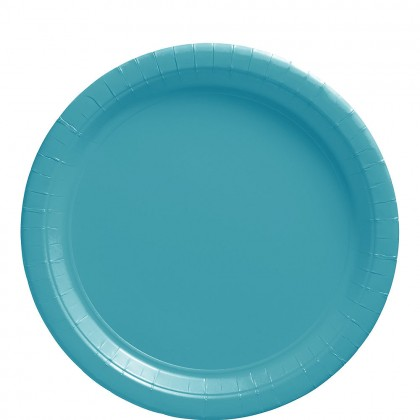 Paper Plates 9 in Carribean Blue
