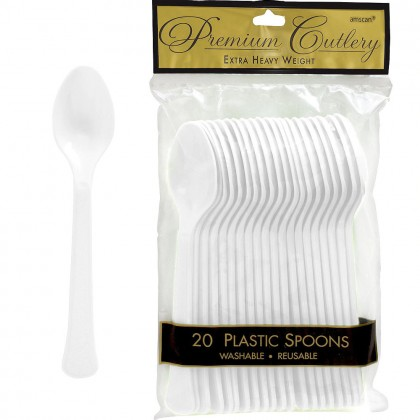 White Premium Plastic Spoons