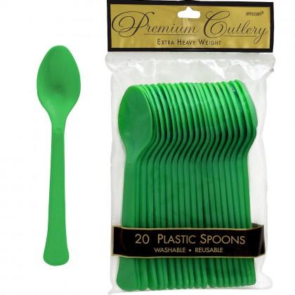 Festive Green Premium Plastic Spoon