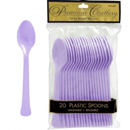 Lavender Premium Plastic Spoon
