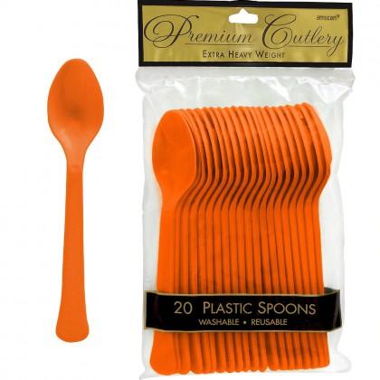 Plastic Spoon Orange Peel