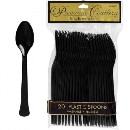 Black Premium Plastic Spoon