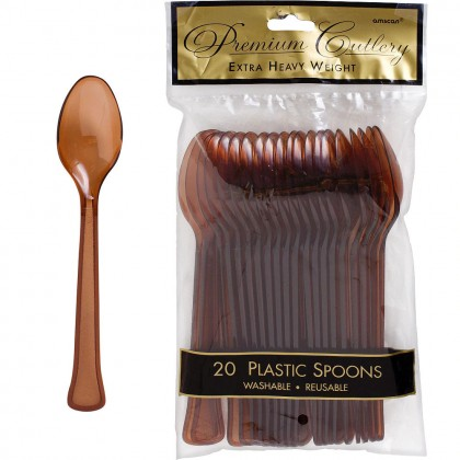 Chocolate Brown Premium Plastic Spoon