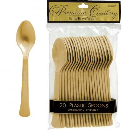 Gold Premium Plastic Spoon