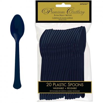 True Navy Premium Plastic Spoon
