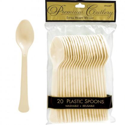 Vanilla Cream Premium Plastic Spoon