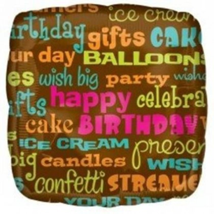 "S50 17"" Happy Birthday, Party, Celebrate Junior Shape XL®"