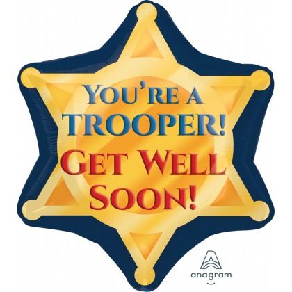 "S50 17"" Trooper Badge Get Well Soon Junior Shape XL®"