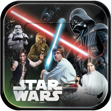 Star Wars ™ Classic Square Plates 9in