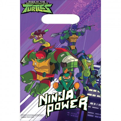Rise Of The TMNT ™ Folded Loot Bags - Plastic