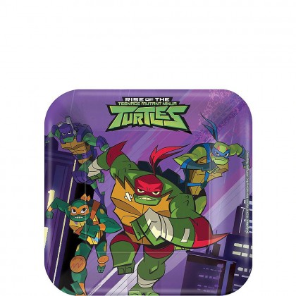 Rise Of The TMNT ™ 7in Square Plates