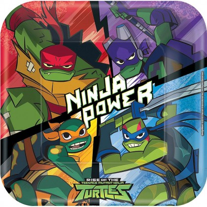 Rise Of The TMNT ™  9in Square Plates
