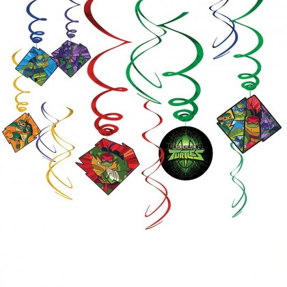 Rise Of The TMNT ™ Value Pack Spiral Decorations