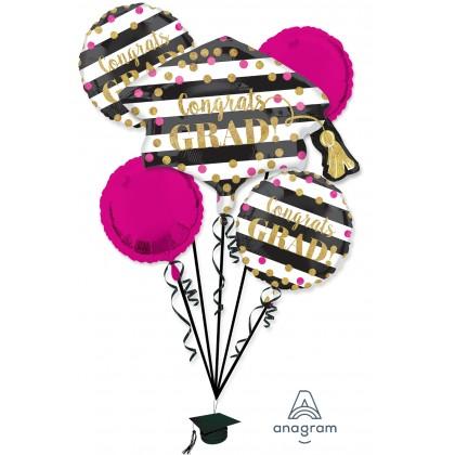 P75 Gold Confetti Graduation Bouquet