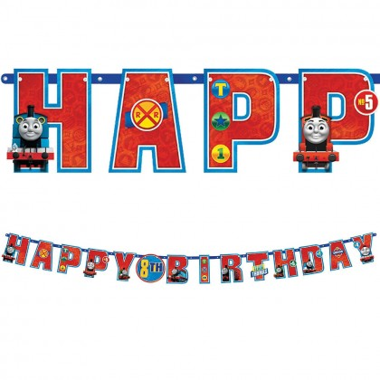Thomas All Aboard Jumbo Add An Age Letter Banner Paper