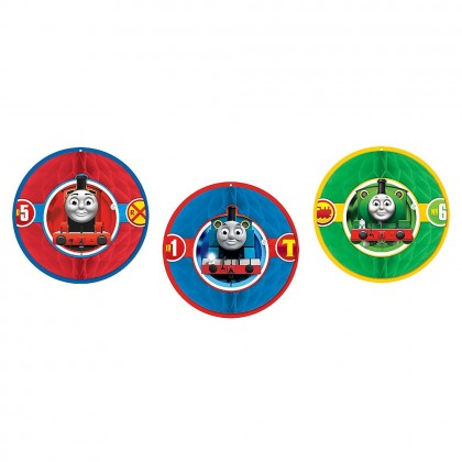 Thomas All Aboard Honeycomb Decorations Tissue w Paper Cutouts