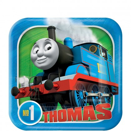Thomas All Aboard Square Plates 7 in