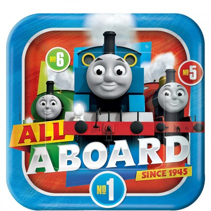 Thomas All Aboard Square Plates 9 in
