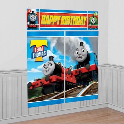 Thomas All Aboard Scene Setters Wall Decorating Kit Plastic