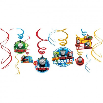 Thomas All Aboard Value Pack Foil Swirl Decorations