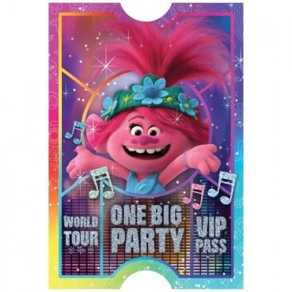 ©Trolls World Tour Postcard Invitations
