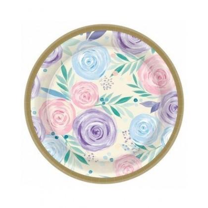 Vanilla Garden Round Plates, 6 3/4 in
