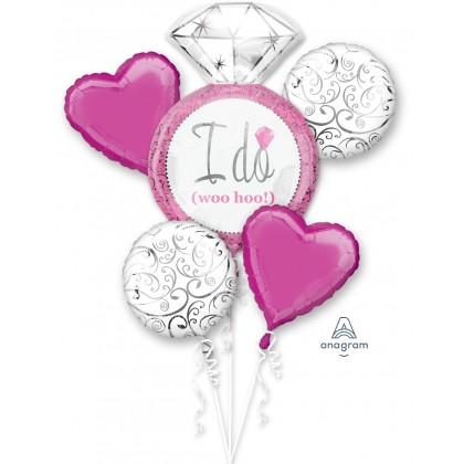 P75 Bright Pink Wedding Bouquet