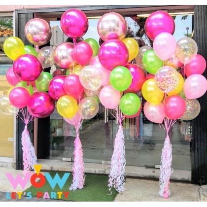 Orbz + Latex + Confetti Balloon Bouquet