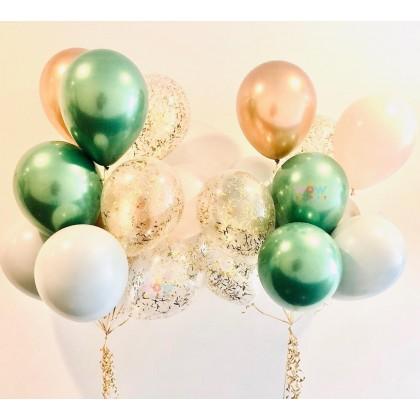 Organic Latex Balloon Bouquet (10 Latex)