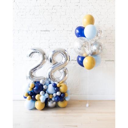 DisneyWorld - Confetti Bouquet & Number Pedestals Set