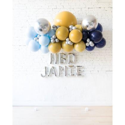 DisneyWorld - Floating Balloon Arch & Foil Letters Set